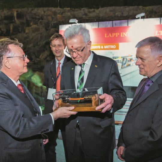 Andreas Lapp bei seiner Benennung zum Honorarkonsul