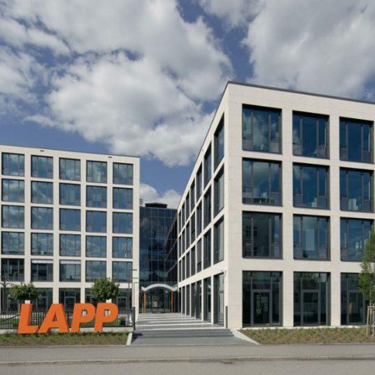 Die neue Europazentrale von LAPP in Stuttgart in der Außenansicht