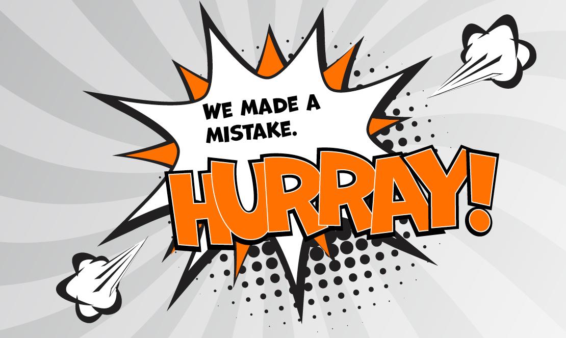 Hurray. Illustration Error Culture