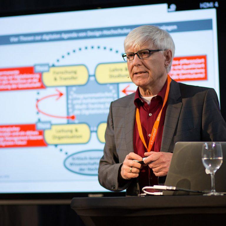 Dr. Ulrich Kern, Professor for Design and Management at a presentation.