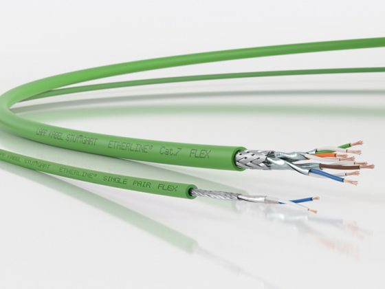 Auf dem Bild sieht man das Kabel ETHERLINE® T1.