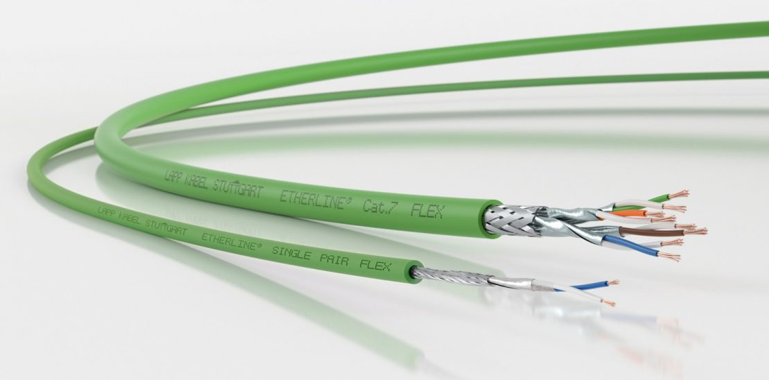 The picture shows the ETHERLINE® T1 cable.