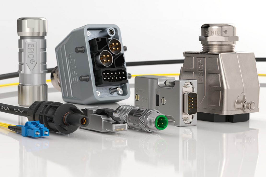The picture shows the Lapp brand image: EPIC® Industrial connectors