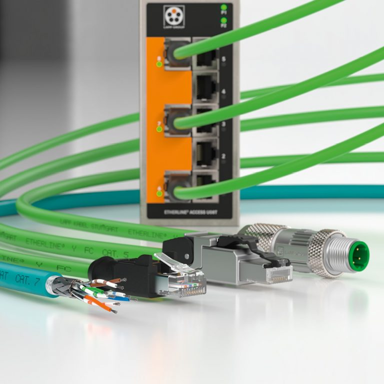The picture shows the LAPP products Industrial Ethernet.