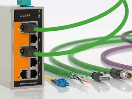 The picture shows the LAPP products Industrial communication.