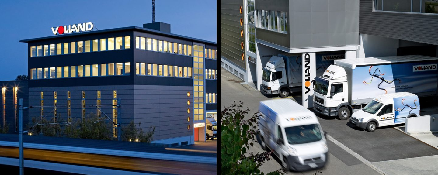 On the picture you can see Volland's headquarters and the entrance with the vehicle fleet.
