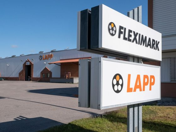 The picture shows the Fleximark AB building in Sweden.
