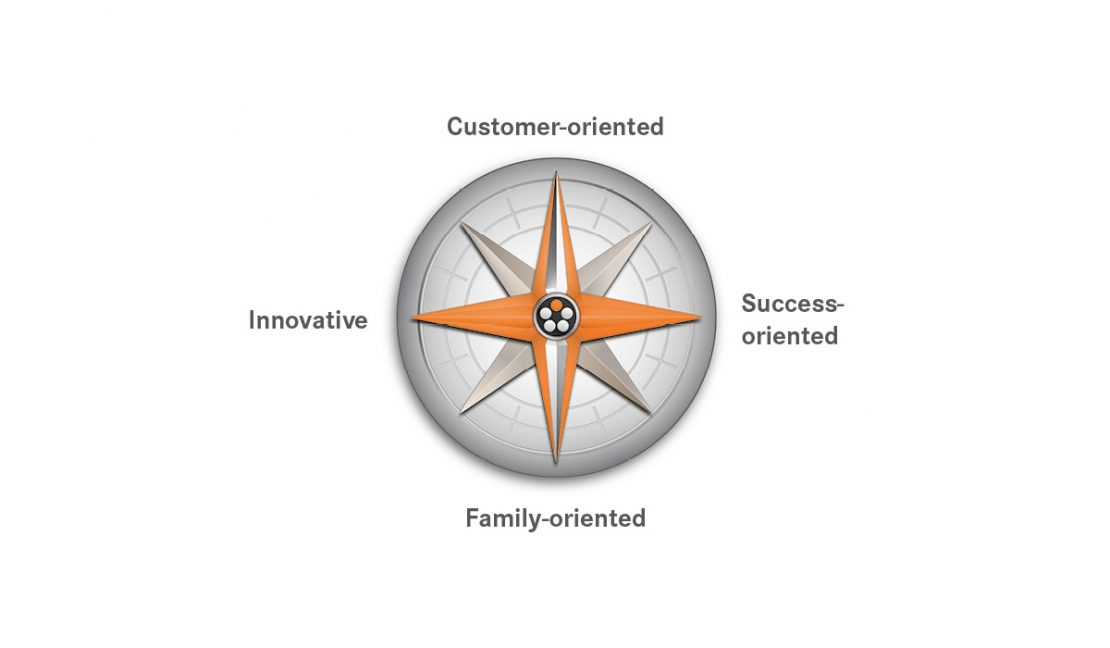 Illustration of the LAPP value compass.