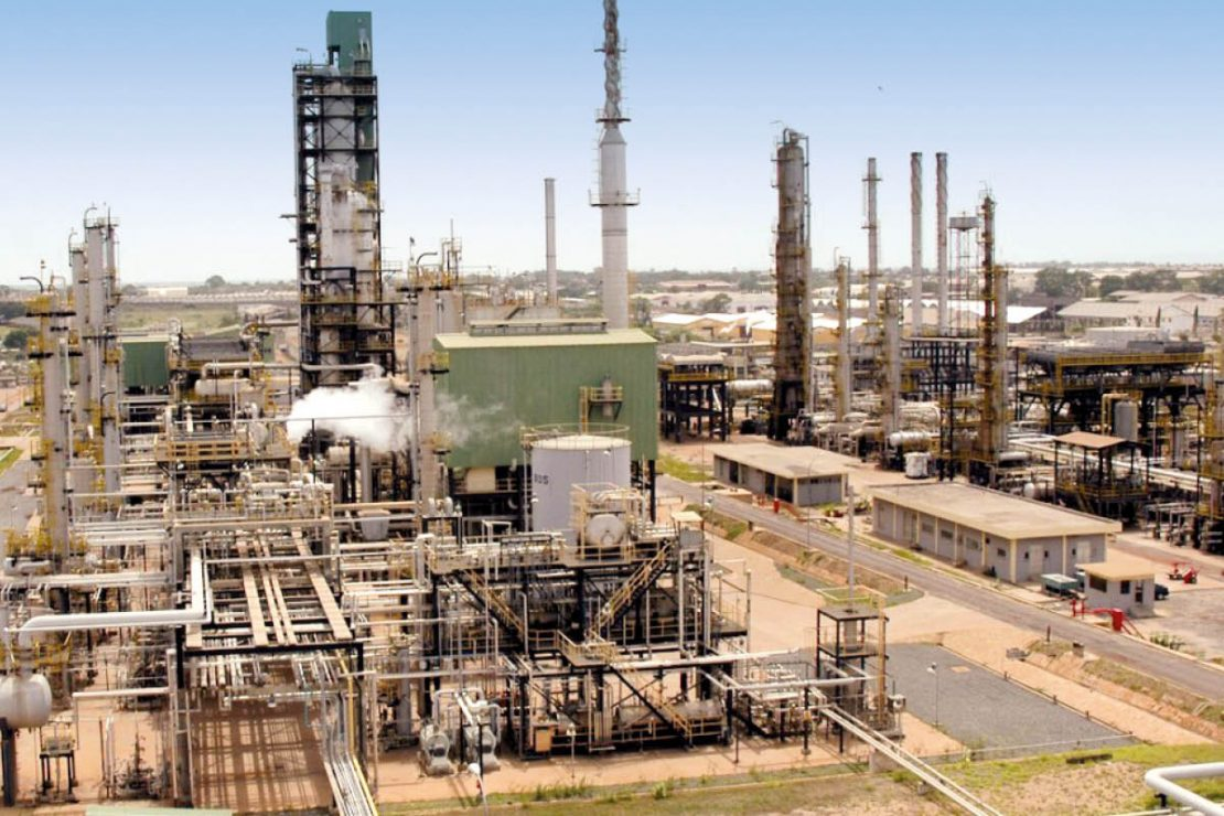 The picture shows the Tema Oil Refinery (TOR) in Ghana.