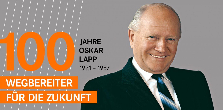 Auf dem Bild sieht man ein Porträt von Oskar Lapp: Pionier, Unternehmer, Familienmensch.