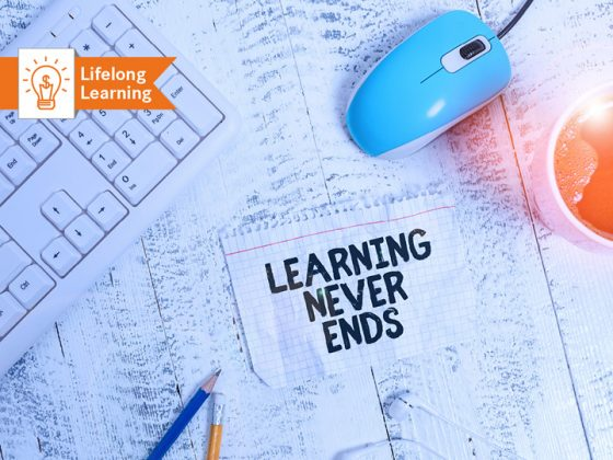 The picture shows a graphic for lifelong learning.