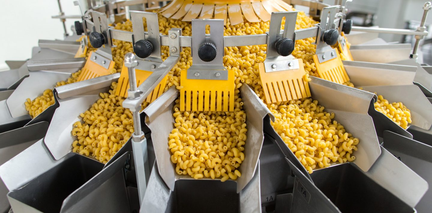 The picture shows a plant for the production of pasta.