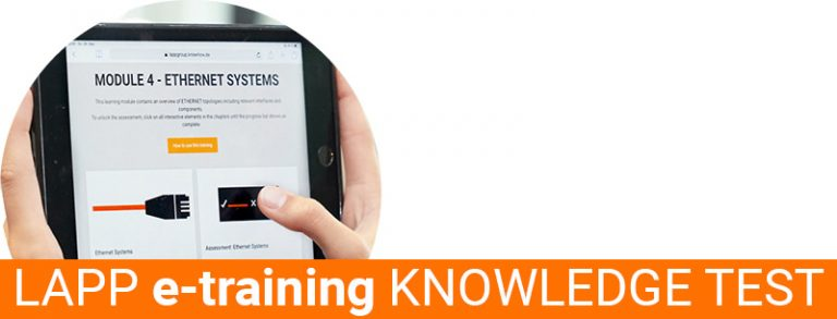 The picture shows a teaser picture for LAPP e-Training.